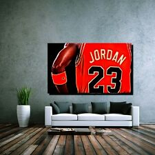 LEINWAND BILD L POP ART MICHAEL JORDAN AIR BASKETBALL TRIKOT 23 NBA 50x30 cm
