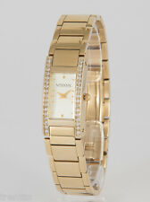 RELOJ VENDOUX MUJER ACERO DORADO MD13120 WOMENS NEW STEEL GOLD WATCH UHR 30 M