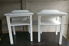 Matching Pair Of Shabby Chic Bedside Tables / Side Tables