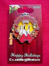 Disney Pin Happy Holidays 2016 Seagulls Beach Club Resort Wreath LE 1000