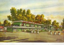 VALLEY GREEN MOTEL, KEENE, N.H. the Sweets, hosts. Watercolor by Sascha Maurer