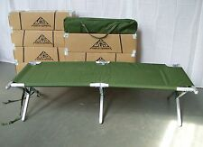 British Army - Military - Heavy Duty Aluminium Frame Folding Camp Cot Bed - NEW