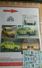 Decals 1/18 réf 1021 Golf GTI THERIER MONTE CARLO 1979