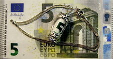 New Sterling Silver emergency 5 Euro note charm pendant & chain