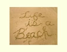 Life is a Beach wall decor photograph office art picture matted photo