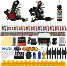 Solong Tattoo Kit 2 Tattoo Machine Guns Set 54 Ink Power Supply Needle TK225