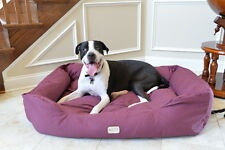 Armarkat XL Dog Pet Bed w/ Heavy Duty Canvas Waterproof Skid-Free Burgundy 49""