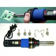 450℃ 450W 220V LCD Hot air gun Portable Soldering station ICs SMD BGA Nozzle New