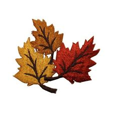 ID 7162 Tree Plant Leaf Autumn Fall Nature Embroidered Iron On Applique Patch