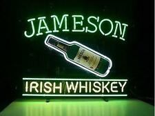 "New Jameson Irish Whiskey Shamrock Beer Lager Bar Man Cave Neon Sign 20""x16"""
