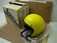 NOS 1970s BUCO #1828 MOTORCYCLE SNOWMOBILE HELMET MENS SMALL YELLOW NEVER USED!