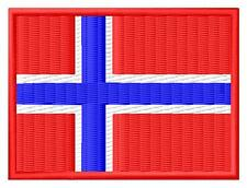 Flag Norway Bandera de Noruega Norge Parche bordado Thermo-Adhesivo patch