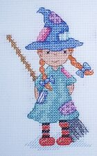 KL119 Little Minx Witch Counted Cross Stitch Kit by Genny Haines