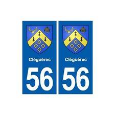 56 Cléguérec blason autocollant plaque stickers ville arrondis