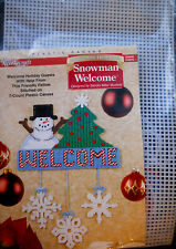 Needlecraft Shop Plastic Canvas Kit Snowman Welcome Christmas Ornament NEW