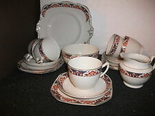 vintage tams ware 18 piece tea set (5 trios)