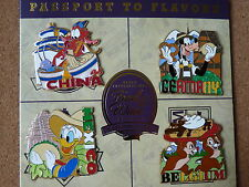 Disney Epcot Food And Wine Festival 2015 PASSPORT TO FLAVORS* 4 pin LE set*Mushu
