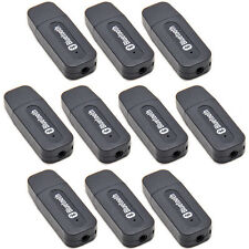 Lot10Pcs Wireless 3.5mm USB 2.0 Bluetooth Music Receiver Stereo Audio Adapter US