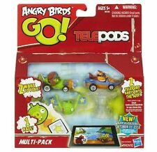 ANGRY BIRDS GO TELEPODS MULTI-PACK MOSTACHE PIGS & EXL ORANGE BIRD NEW IN BOX!