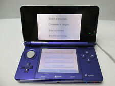 Nintendo 3DS Midnight Purple Handheld System firmware version 9.5.0-22U