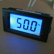 AC 150-500V Digital Blue LCD Display Frequency Panel Meter Gauge 10Hz-199.9Hz