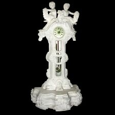 Fantastic Solid White Marble Clock #4510