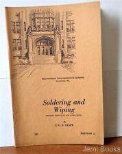 1929 Soldering And Wiping by I.C.S. - Blowpipe Soldering Brazing Joint Wiping VG