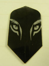 Dart Flights 5 Slim Sets  Silver/Black Tiger's Eyes