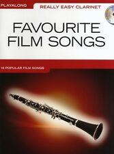 Really Easy Clarinet Favourite Film Songs Learn to Play Sheet Music Book & CD