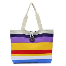 Lady stripes Canvas Large Shopping Handbag Shoulder Tote Purse Satchel Bag  J1
