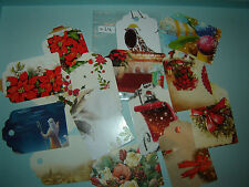 15 Traditional Red Christmas Gift Tags Luggage Labels Handmade Shabby Chic