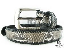 "PELGIO Genuine Natural Python Snake Skin Leather Handmade Belt 46"" Free Shipping"