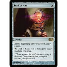 1x 1 x Staff of Nin x1 MTG M13 Core Set MINT PACK FRESH UNPLAYED 2013