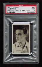 PSA 7  RUDOLPH VALENTINO 1926 - 1929 Kemmel Chocolate Card #80 RARE