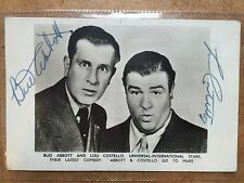 ** Signed photo BUD ABBOTT & LOU COSTELLO GENUINE autographed vintage p/c +COA*