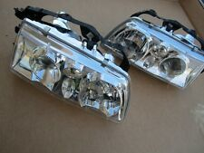 1988-1989 Honda CRX Cvic Chrome Projector Headlights Head Lights Set