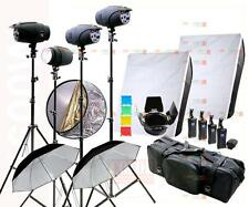1600W Studio Strobe Flash Light Kit Photography Lighting 4 x 400W 1K4