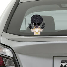 Pug Dog Peeking on Board Kids Boys Bedroom Decal Wall Car Art Sticker Gift New