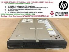 HP BL685c G7 4x 6220 CPU's 32-Core 64GB P410i/1G iLO 3 2SFF Blade Server