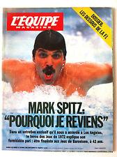 b)L'Equipe Magazine du 21/10/1989; Mark Spitz/ Les dessous de la F1
