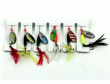 6pcs Fishing Spinner Bait Lures Freshwater Trout Redfin Bass 7.7g Fishing Tackle