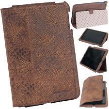 iPad MINI ECHT LEDER Hülle Case Cover Tasche Bouletta MyCase Reptil Antik Coffee