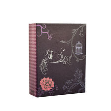 Arpan Vinatge Bird & Flower Purple Slip Case Photo Album for 100 Photos CL-DT100