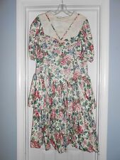 Teen Picture Me Vintage Gunnie Sax Dress Size 12/7 Collar Lace Sack Victorian