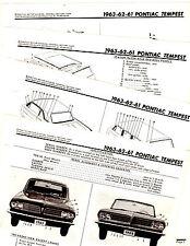 1961 1962 1963 PONTIAC TEMPEST LEMANS MOTORS BODY PART CRASH ILLUSTRATIONS MORIG