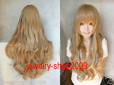 New wig Cosplay Aisaka Taiga /Junior League Pale Golden Brown Curly Long wig