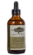 Mogador 100% Pure Certified Organic Argan Oil 4oz for Hair, Face & Body