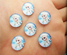 NEW 14mm 10PCS Photo Image Frozen Round Glass Cabochon Dome Flat Back Cover BX13