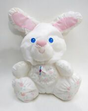 "Fisher Price 1994 Puffalump White Bunny Rabbit Rattle 10"" Plush #1213,1214, 1215"