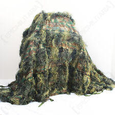 WOODLAND CAMO GHILLIE COVER 3M X 2M - Durable - Camouflage - Sack
